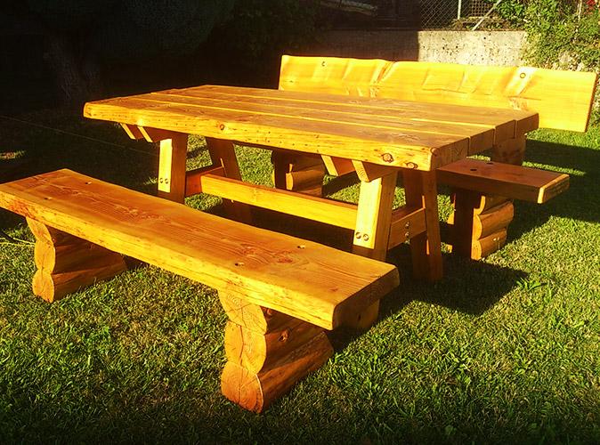 Holzmassivprodukte Rustikale Gartenmöbel Deckert Holzverarbeitung